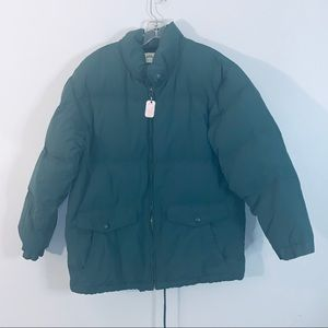 Eddie Bauer Goose Down Winter Coat Full Zip Size M